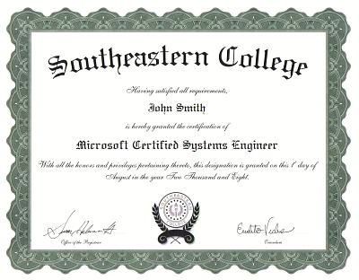 Sample College Diploma